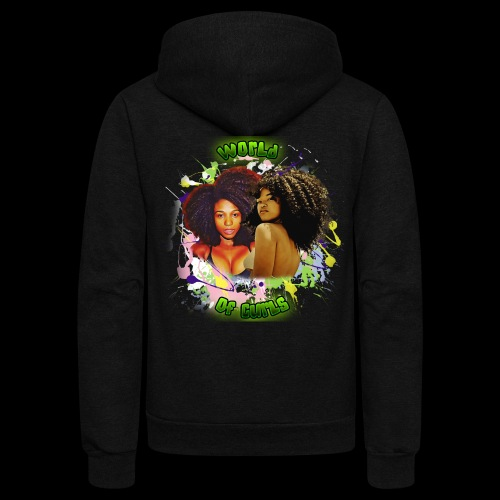 World of Curls - Unisex Fleece Zip Hoodie