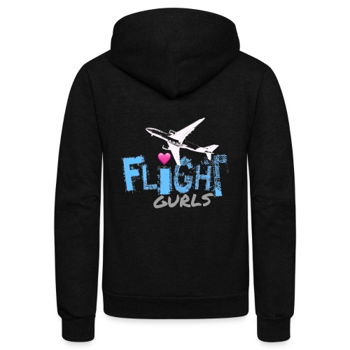 FLIGHT GURLS - Unisex Fleece Zip Hoodie