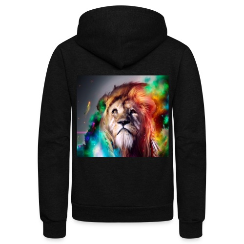 Lion Art - Unisex Fleece Zip Hoodie