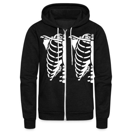 Skeleton Halloween Costume Hoodies - Unisex Fleece Zip Hoodie