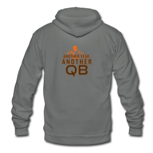 Another Year, Another QB - Unisex Fleece Zip Hoodie by American Apparel