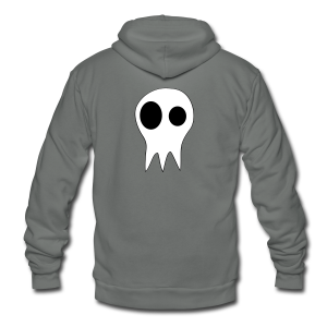 The Grims Skull Logo - Unisex Fleece Zip Hoodie by American Apparel