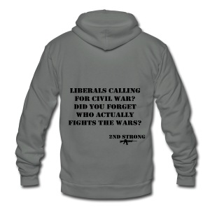 Civil War - Unisex Fleece Zip Hoodie by American Apparel