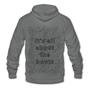 it's all about the boots - Unisex Fleece Zip Hoodie