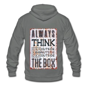 Always think outside the box - Unisex Fleece Zip Hoodie