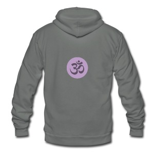om - Unisex Fleece Zip Hoodie by American Apparel