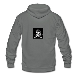 Greaser skull - Unisex Fleece Zip Hoodie