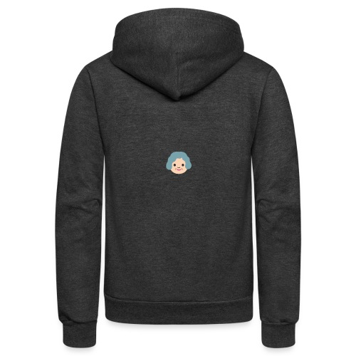 Grandma Emoticon Shirt - Unisex Fleece Zip Hoodie