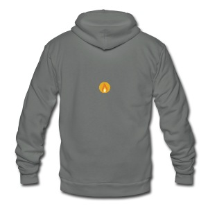 Flame (For cases and Cups) - Unisex Fleece Zip Hoodie by American Apparel