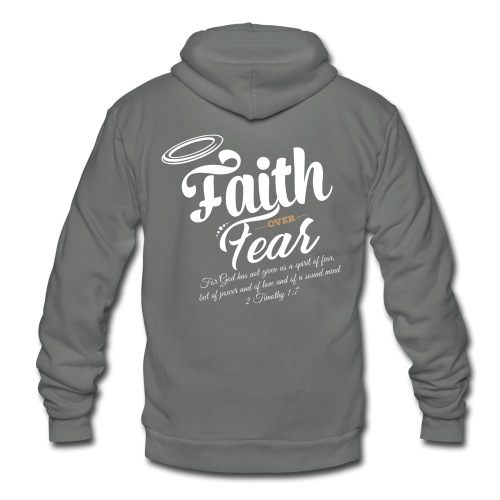 Faith Over Fear - Unisex Fleece Zip Hoodie