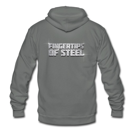 Fingertips of Steel - Unisex Fleece Zip Hoodie
