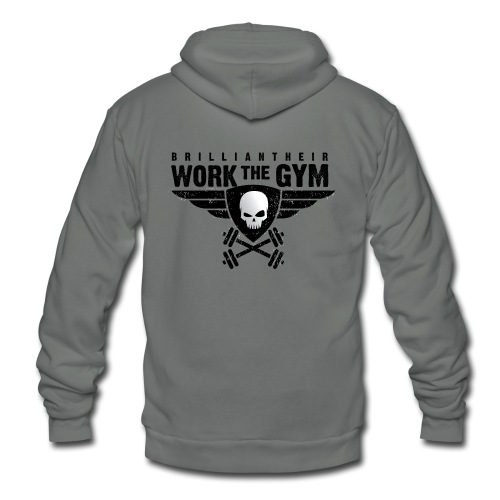 Brilliant-Heir Work the Gym Shirt - Unisex Fleece Zip Hoodie