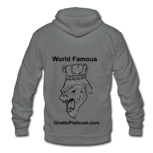 T-shirt-worldfamousForilla2tight - Unisex Fleece Zip Hoodie by American Apparel