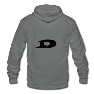 ORIGINAL BLACK DETONATOR LOGO - Unisex Fleece Zip Hoodie by American Apparel