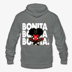 BONITA, BONITA, BONITA. - Unisex Fleece Zip Hoodie by American Apparel