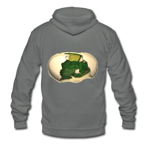 The Emerald Dragon of Nital - Unisex Fleece Zip Hoodie by American Apparel