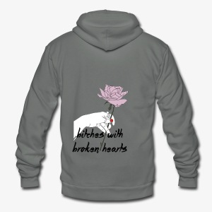bitches broken hearts - Unisex Fleece Zip Hoodie