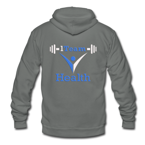 1TH - Blue and White - Unisex Fleece Zip Hoodie