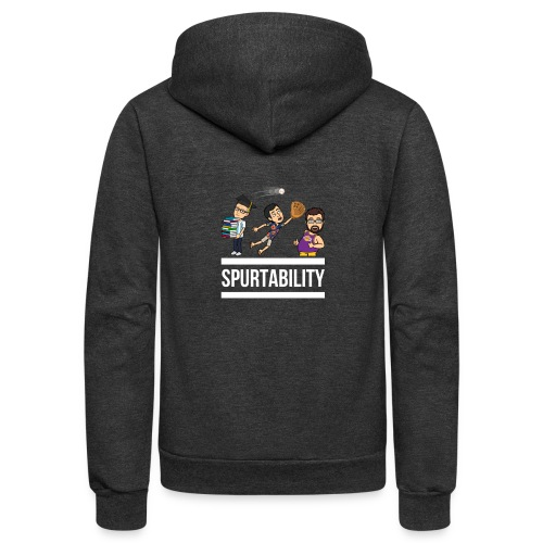 Spurtability White Text - Unisex Fleece Zip Hoodie