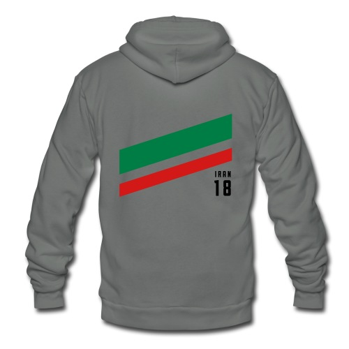 Iran Stipes - Unisex Fleece Zip Hoodie