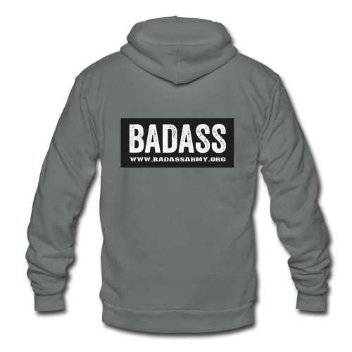 badass simple website - Unisex Fleece Zip Hoodie
