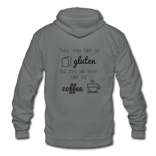 Gluten but not Coffee Script - Unisex Fleece Zip Hoodie