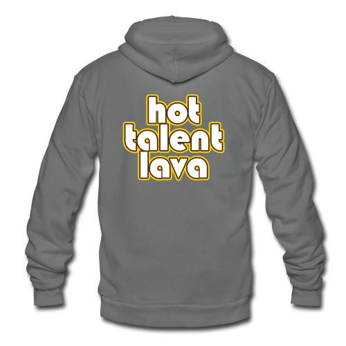 Hot Talent Lava - White Letters - Unisex Fleece Zip Hoodie