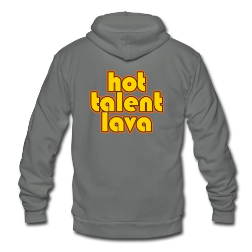 Hot Talent Lava - Yellow Letters - Unisex Fleece Zip Hoodie