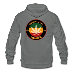 Oakland Grown Cannabis 420 Wear - Unisex Fleece Zip Hoodie by American Apparel