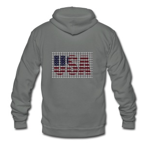 USA - Unisex Fleece Zip Hoodie by American Apparel