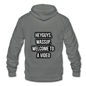 Hey Guys, Wassup, Welcome To A Video. - Unisex Fleece Zip Hoodie
