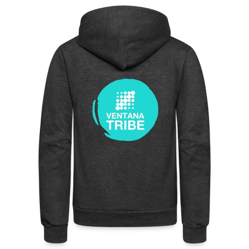 Ventana Tribe Circle - Unisex Fleece Zip Hoodie