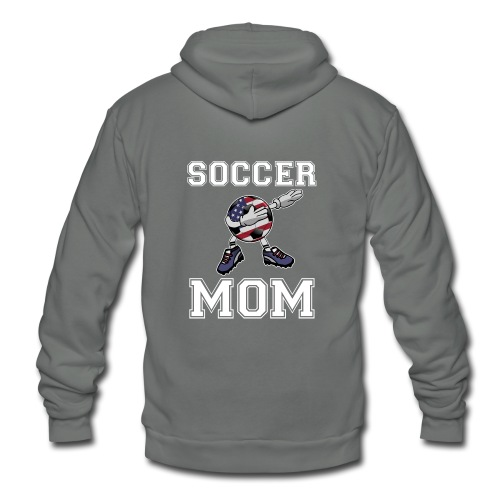 US Soccer Mom America Mother's Day Gift Dab Dance - Unisex Fleece Zip Hoodie
