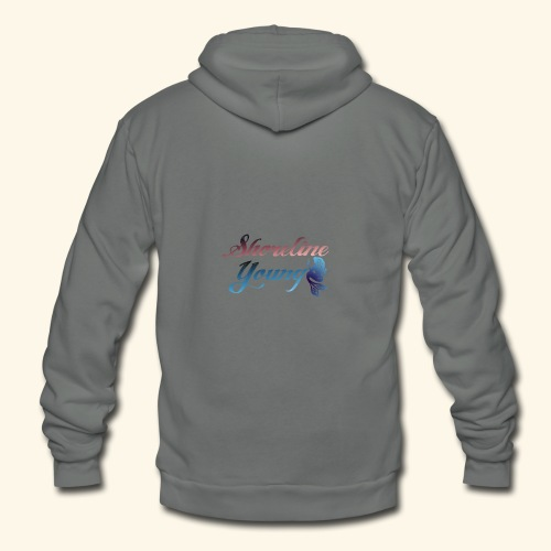 Shorlinepinkblue - Unisex Fleece Zip Hoodie