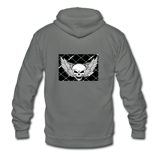 angel skull - Unisex Fleece Zip Hoodie