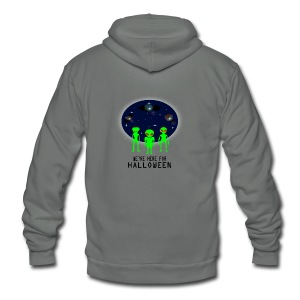 WE'RE HERE FOR HALLOWEEN - Unisex Fleece Zip Hoodie