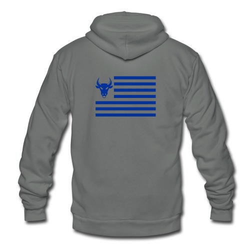 PivotBoss Flag Cobalt - Unisex Fleece Zip Hoodie