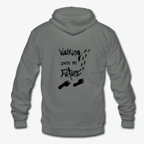 Walking Into My Future - Unisex Fleece Zip Hoodie