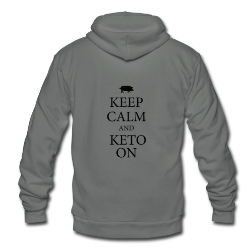 Keto keep calm2 - Unisex Fleece Zip Hoodie