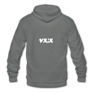 YXIX logo - Unisex Fleece Zip Hoodie by American Apparel