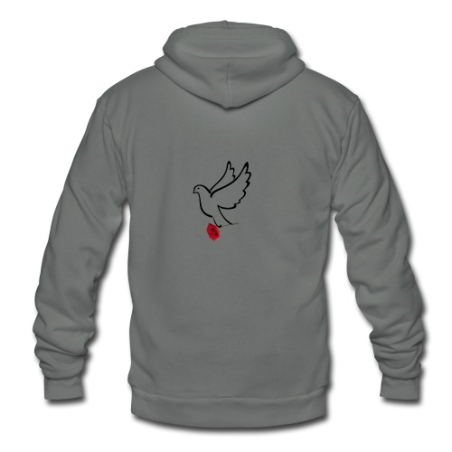 GIFTED DOVE - Unisex Fleece Zip Hoodie