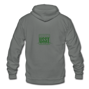 USST Logo Classic - Unisex Fleece Zip Hoodie by American Apparel