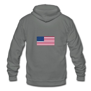 usa flag - Unisex Fleece Zip Hoodie