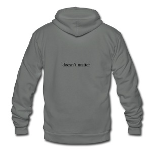 doesn't matter logo designs - Unisex Fleece Zip Hoodie by American Apparel