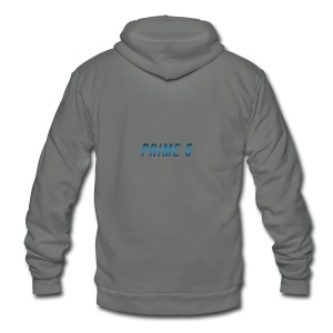 Prime 5 Text Logo - Unisex Fleece Zip Hoodie by American Apparel