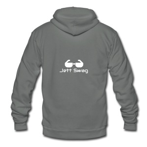 Jett Swag Sun Glasses White - Unisex Fleece Zip Hoodie