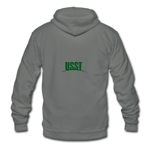 USST Modern Logo - Unisex Fleece Zip Hoodie by American Apparel