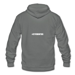 #GTFOHWTBS - Unisex Fleece Zip Hoodie by American Apparel