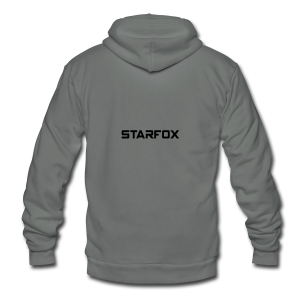 STARFOX Text - Unisex Fleece Zip Hoodie by American Apparel