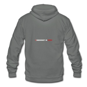 Hindsight Is 2020 - white/red type - Unisex Fleece Zip Hoodie
